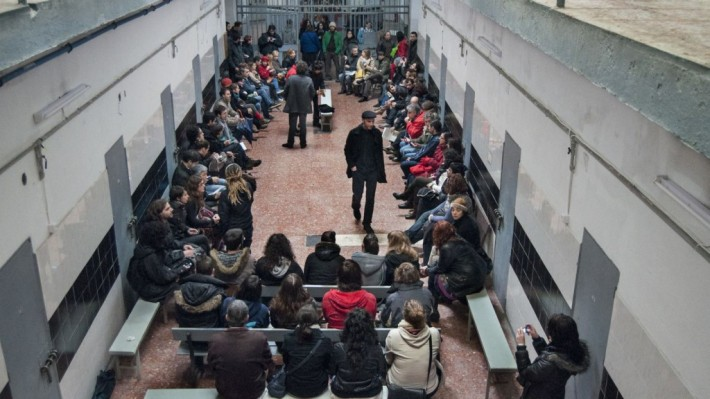Interior de la prisión provincial de La Coruña. © Foto: Proxecto Cárcere.