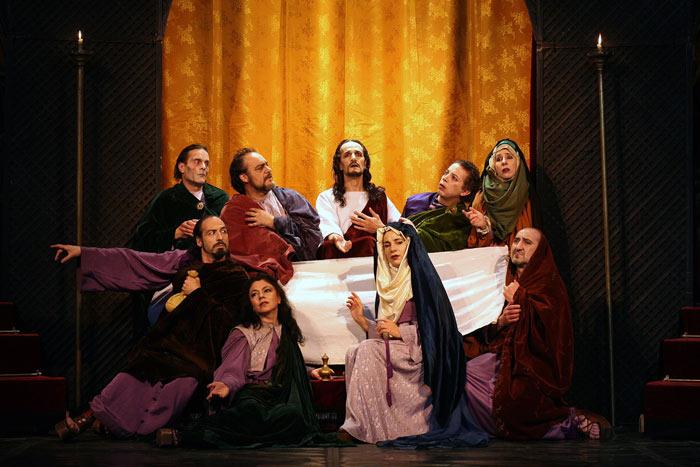 """Imagen del espectáculo """"Pasión"""", de Teatro Corsario. © Fotografía: Luis Laforga."""