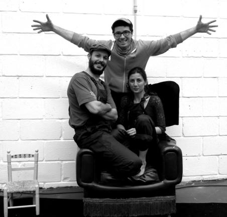 Víctor Martínez, Elena Cennerelli y Pablo Parra, los tres promotores de La Pequeña Nave.