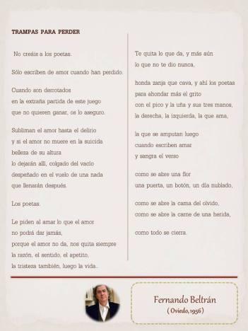 """Poema de Fernando Beltrán, maquetado por Ángeles Rodríguez para el """"Tendedero"""" del Pasquín."""