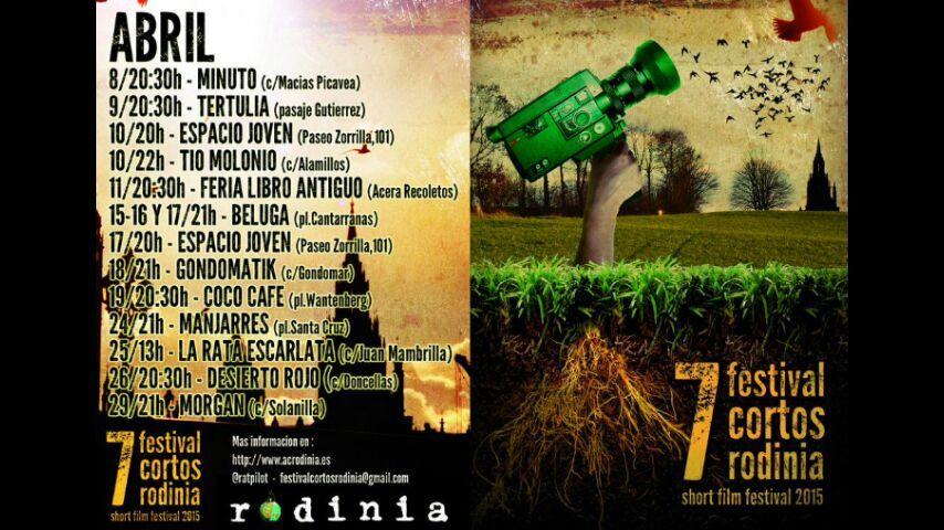 Cartel del festival de cortos Rodinia.
