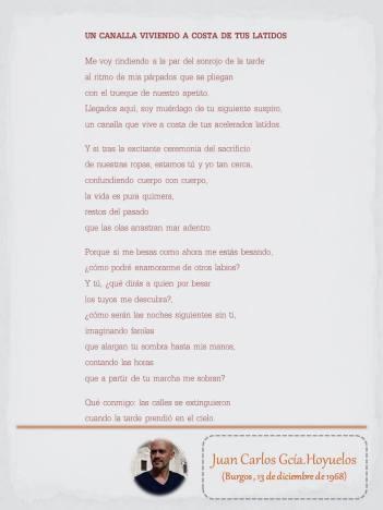 """Poema de Juan Carlos G. Hoyuelos, maquetado por Ángeles Rodríguez para el """"Tendedero"""" del Pasquín."""