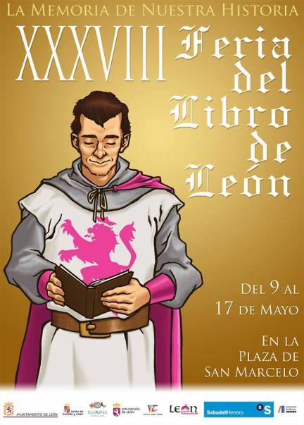 Cartel de la Feria del Libro de León.