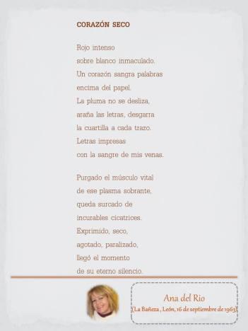 """Poema de Ana del Río, maquetado por Ángeles Rodríguez para el """"Tendedero"""" del Pasquín."""