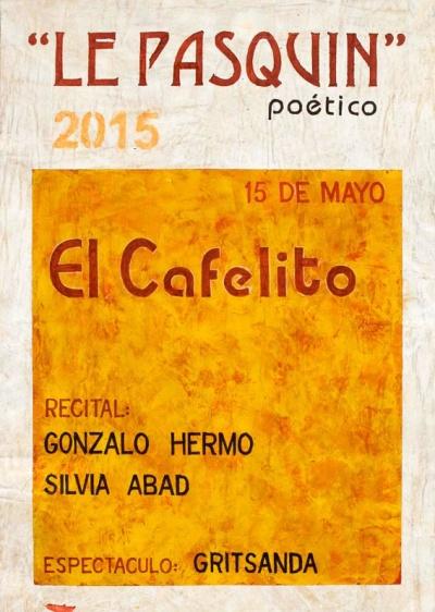 El cartel, hecho a mano, es obra del artista leonés Juan Rafael.