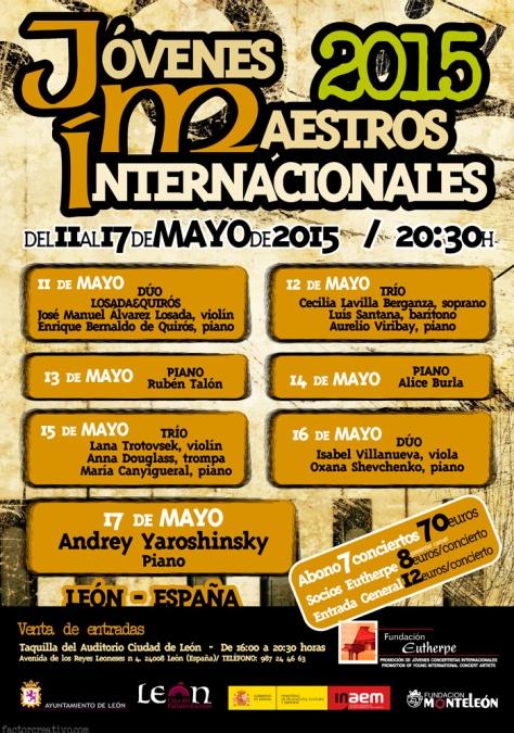 Cartel Jóvenes Maestros Internacionales