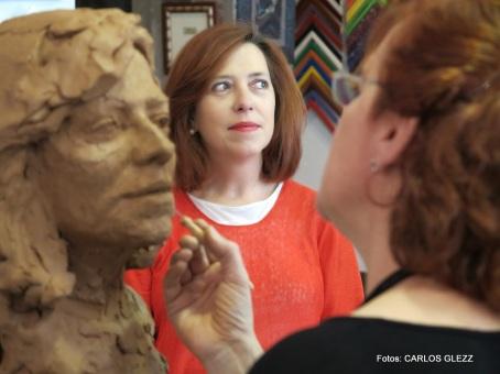Maite López, una de las últimas retratadas.
