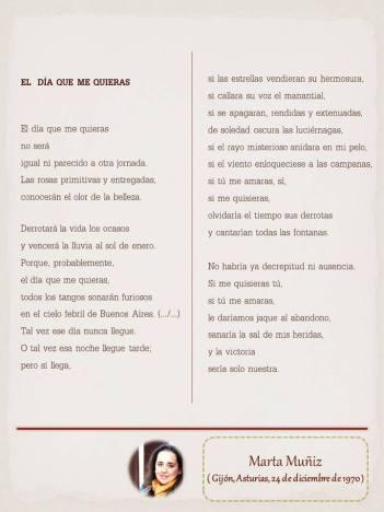 """Poema de Marta Muñiz, maquetado por Ángeles Rodríguez para el """"Tendedero"""" del Pasquín."""