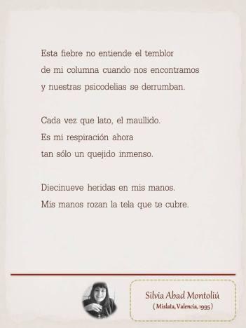 """Poema de Silvia Abad Montoliú, maquetado por Ángeles Rodríguez para el """"Tendedero"""" del Pasquín."""
