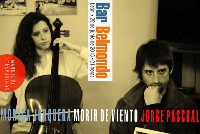 El cartel de la presentación: Jorge Pascual, con la violonchelista Mónica Jorquera.