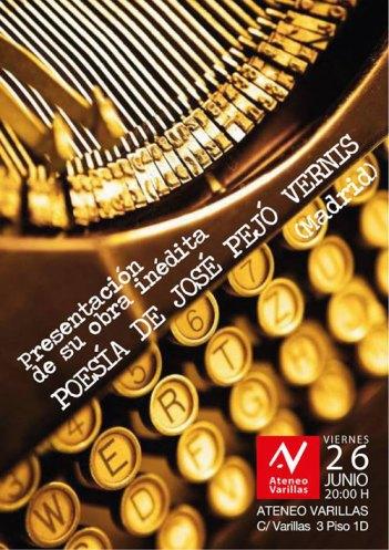 Cartel del recital de José Pejó.