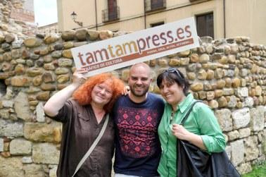 Eloísa Otero, Sergio Jorge y Camino Sayago, fundadores de TAM TAM PRESS. © Fotografía: Daniel Martín (La Nueva Crónica de León).