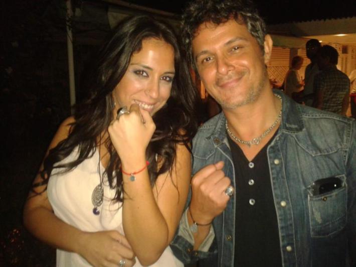 Lya junto a Alejandro Sanz