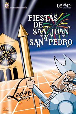 Cartel oficial de las Fiestas de San Juan y San Pedro de León 2015.