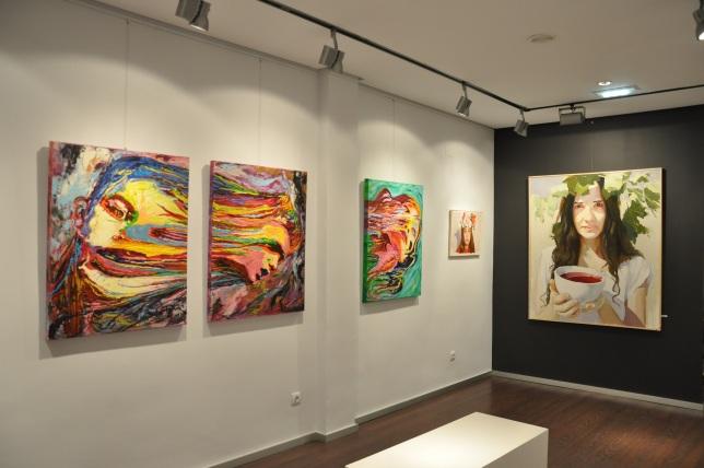 Vista exposición en la Galería Angel Cantero