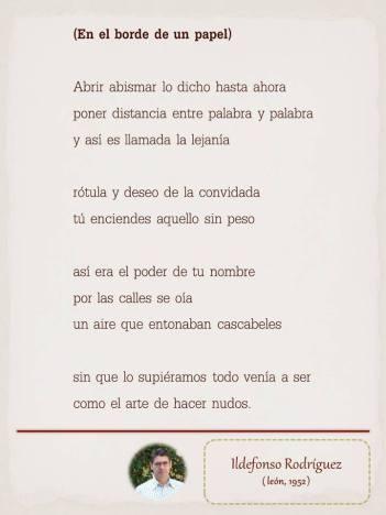 """Poema de Ildefonso Rodríguez, maquetado por Ángeles Rodríguez para el """"Tendedero"""" del Pasquín."""