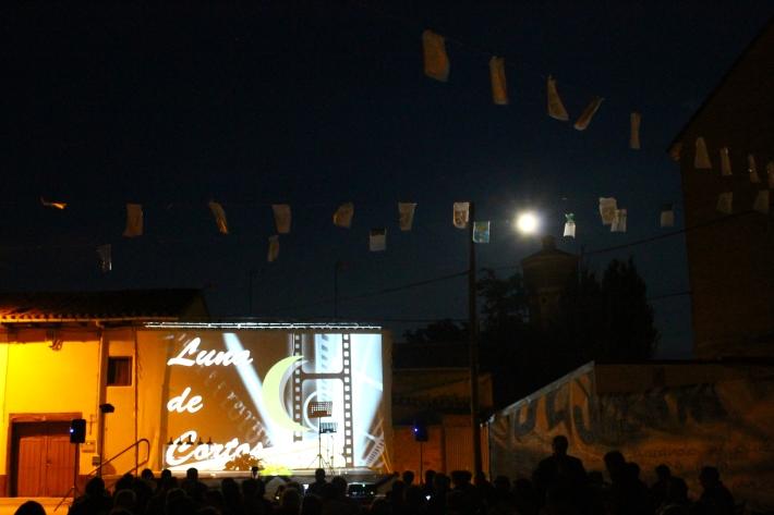 Una de las proyecciones durante la primera edición del festival en Veguellina de Órbigo.