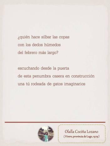 """Poema de Olalla Cociña, maquetado por Ángeles Rodríguez para el """"Tendedero"""" del Pasquín."""