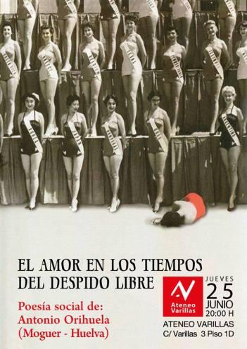 El cartel de la presentación de Orihuela.