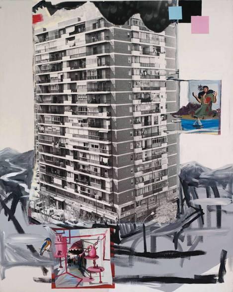 """""""Amor en la ciudad"""" (1994), una obra de Juan Ugalde."""
