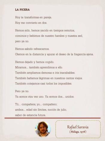 """Poema de Rafael Saravia maquetado por Ángeles Rodríguez para el """"Tendedero poético"""" de Le Pasquín 2015."""