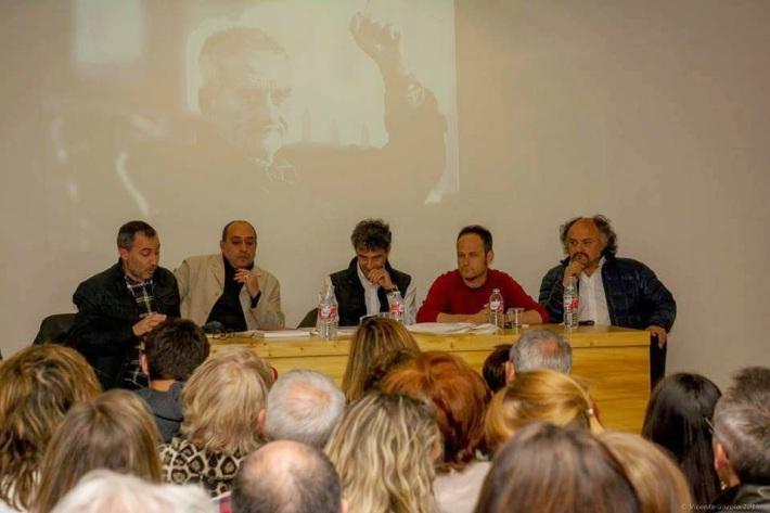 Luis Grau, Víctor M. Díez, José Ramón Vega, Héctor Escobar y Amando Casado durante la presentación del libro el pasado 21 de mayo en el Museo de León.