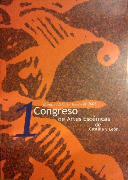 Cartel del primer Congreso de Artes Escénicas de Castilla y León, celebrado en 2001.