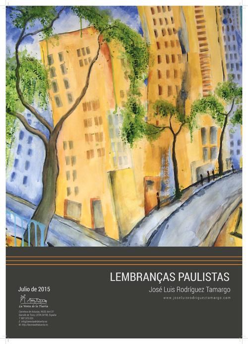 Cartel de la exposición de pintura de José Luis Rodríguez Tamargo.
