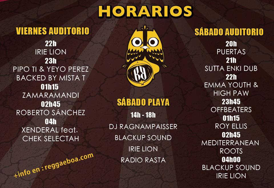 El cartel del Reggaeboa 2015.
