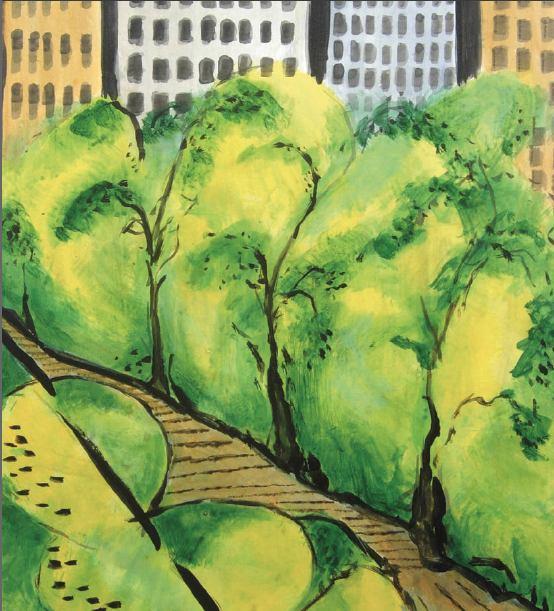 Uno de los cuadros de la exposición de José Luis Rodríguez Tamargo.
