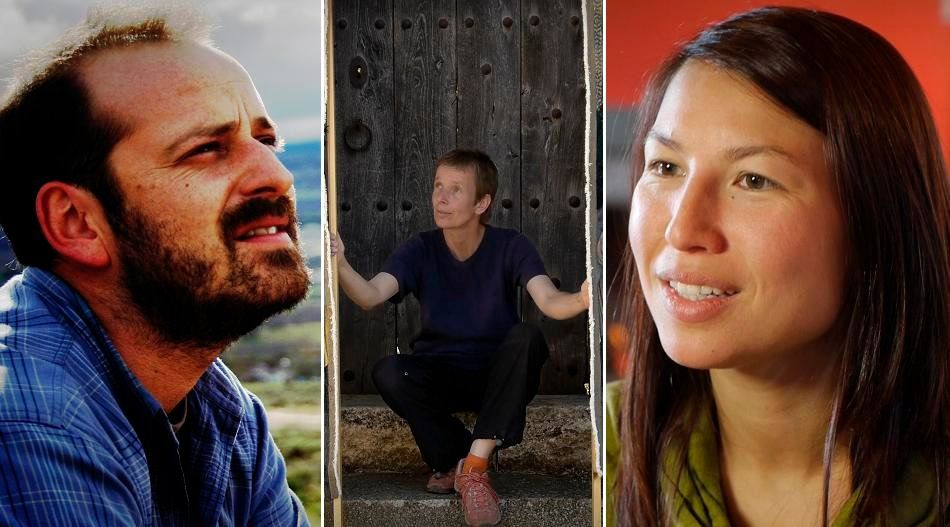 Francisco Sueiro, Andrea Milde y Florianne Nguyen.