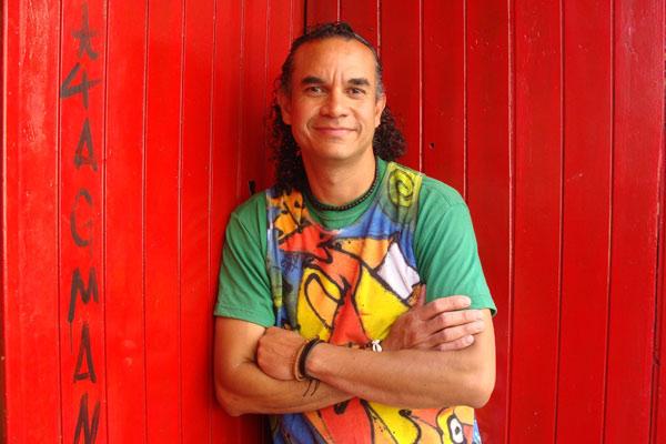 El percusionista venezolano Yonder Rodríguez. © Foto: L. Fraile.