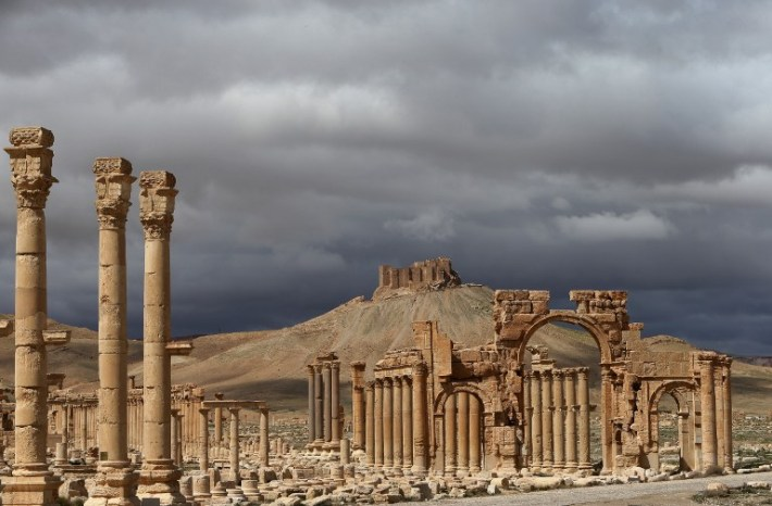 A file picture taken on March 14, 2014 shows a partial view of the ancient oasis city of Palmyra. © AFP PHOTO / JOSEPH EID