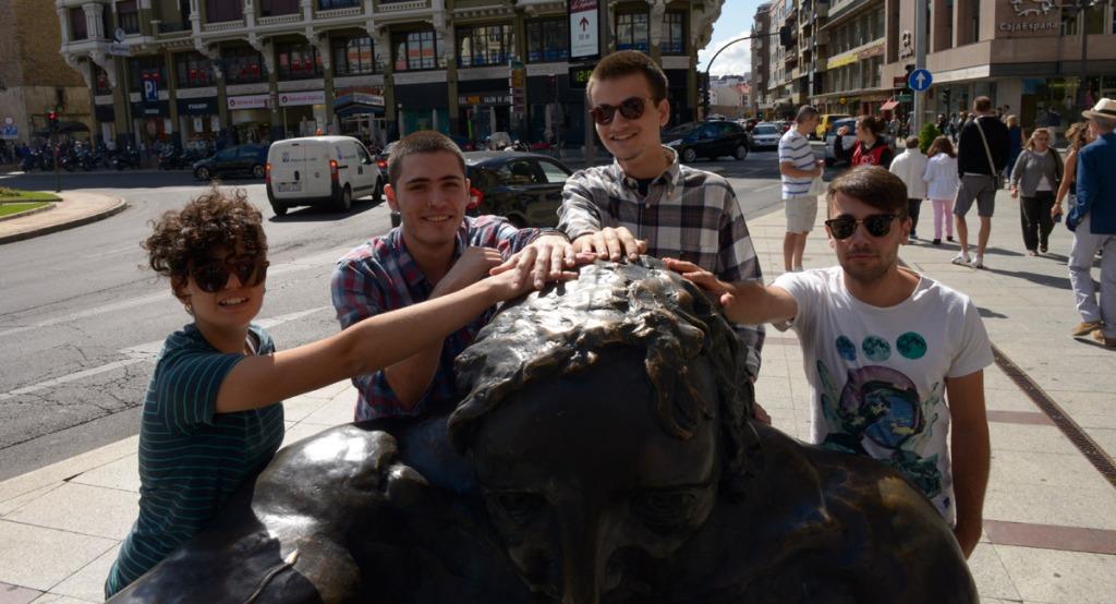 Los cuatro miembros de The Pure en una fotografía de Mauricio Peña (La Nueva Crónica).