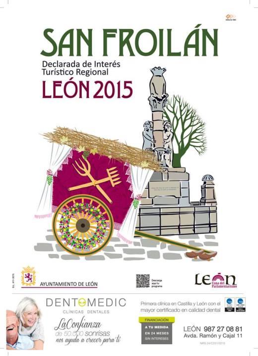Cartel de las Fiestas de San Froilán , León 2015.