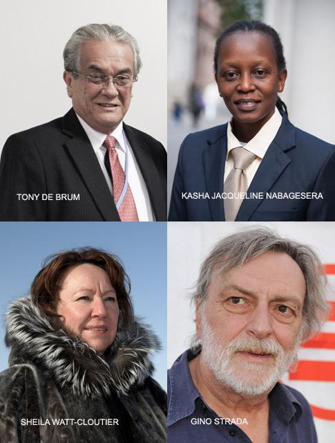 Los cuatro galardonados este año 2015 con el Nobel Alternativo.