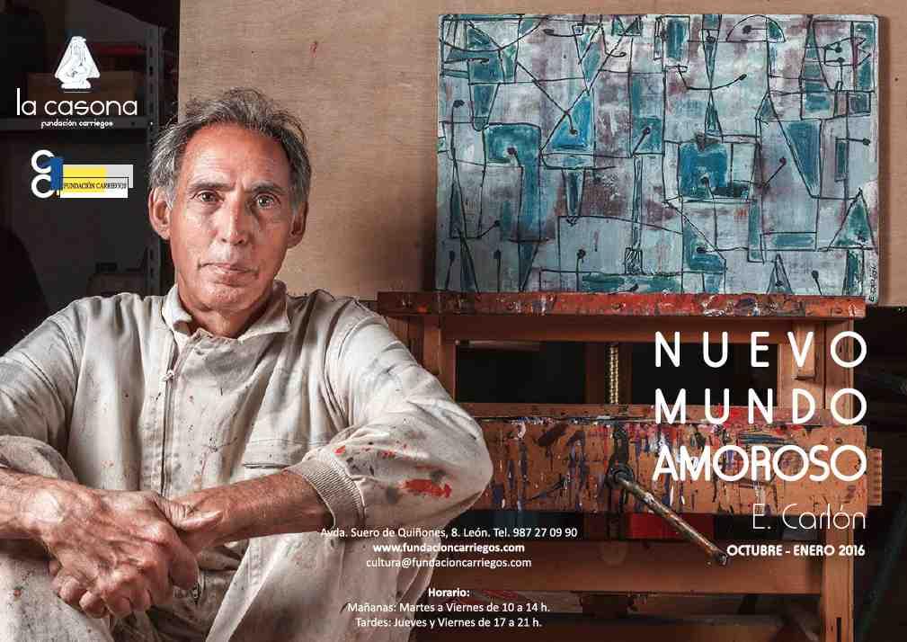 El pintor Enrique Carlón.