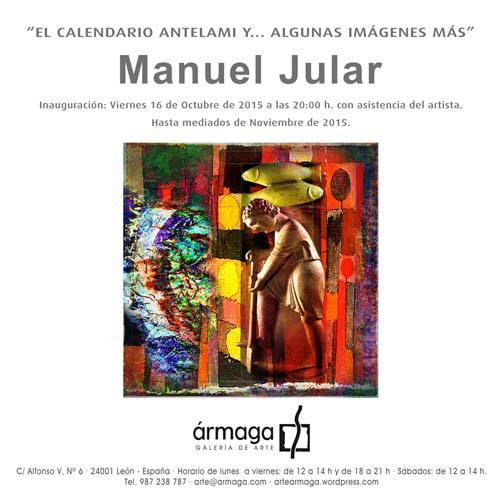 Invitación a la inauguración de la exposición de Jular.