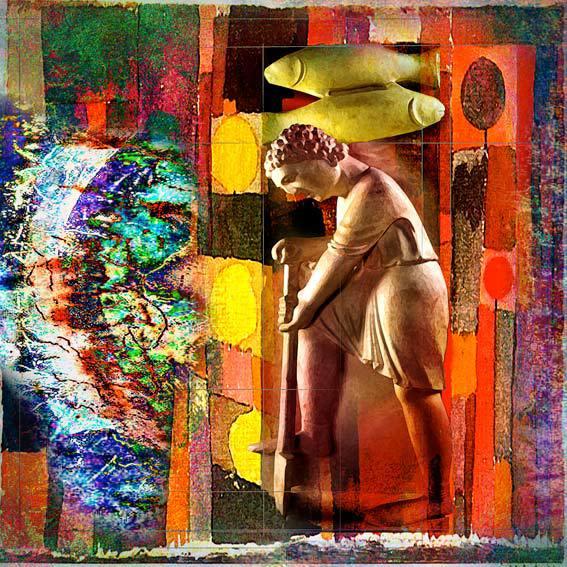 """""""Piscis"""". Uno de los cuadros de la exposición y una de las imágenes del """"Calendario Antelami"""". © Manuel Jular."""