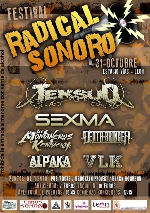 Cartel del Radical Sonoro Festival.