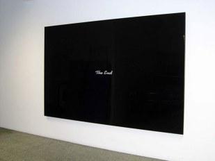 """Gabinete Pintura: Joao Louro – Galería Fernando Santos (Lisboa). """"THE END #01"""", 2007. Pintura sobre plexiglass, 200 x 300 cm."""