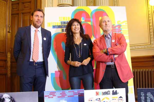 El alcalde Óscar Puente, la concejala de Cultura Ana Redondo y el director de la Seminci, Javier Angulo. Foto: L.F.