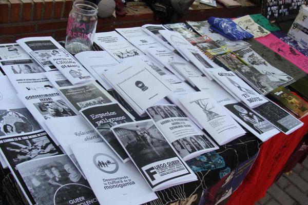 Algunos de los fanzines de la distribuidora Peligrosidad social. Foto: L. Fraile.