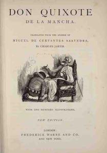 Portada de Don Quijote, edición de F. Warne&Co. Traducción de C. Jarvis.
