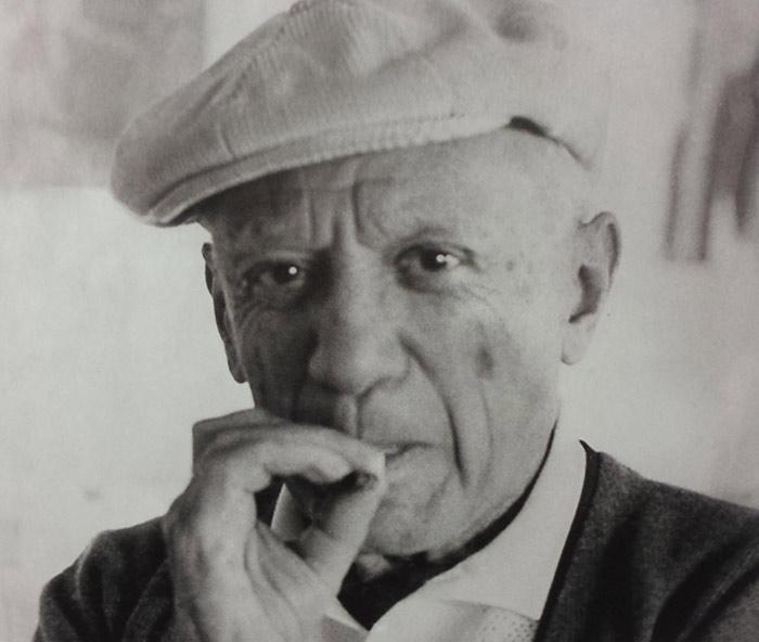 Picasso en una fotografía de Antonio Cores.