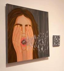 """Una de las obras de la exposición """"Hysteria"""" de Nuria Palencia."""