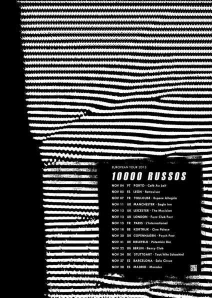 Cartel del tour de 10 000 Russos.