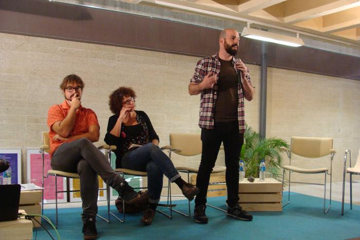 Presentación de los proyectos La Harinera ZGZ, SeAlquila Proyecto y Murs Lliures. Foto: L. Fraile.