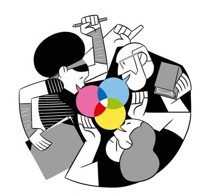 """""""En torno a la ilustración"""". Cartel: Javier de Castro."""