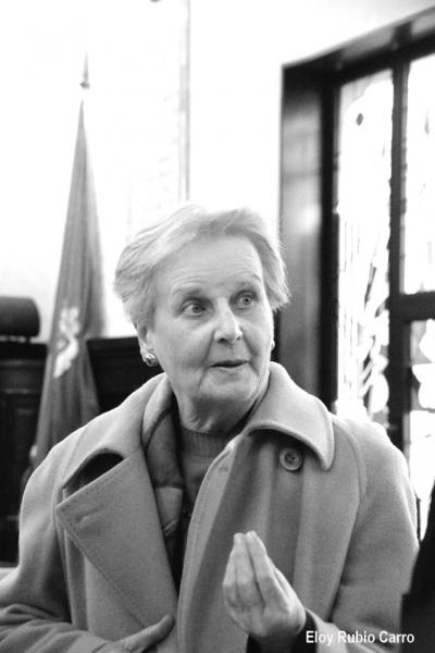 Elena Diego en Astorga. © Fotografía: Eloy Rubio Carro.